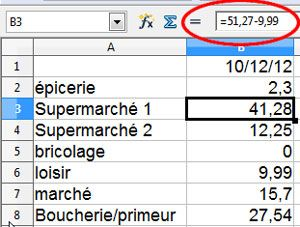 Libre Office feuille de calcul simple 10